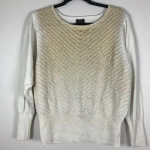 3/$20 Worthington Gold Printed Pullover Sweater